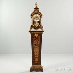 Tiffany Boulle Quarter-hour Chiming Mantel Clock and Pedestal
