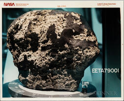 Martian Meteorite EETA79001, Six Photographs.