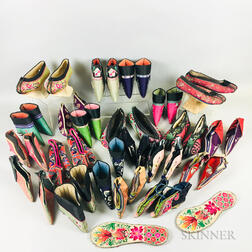 Twenty-one Pairs of Mostly Chanzu   Women's Shoes