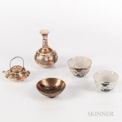Five Miniature Imari and Satsuma Items