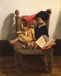 Deborah Deichler (American, b. 1948)    Little Lord Fauntleroy and the French Tickler