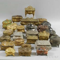 Approximately Sixty Victorian and Art Nouveau Jewelry and Trinket Boxes