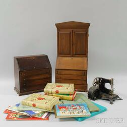 Group of Children's Books and Toys
