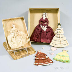 Extensive Group of 19th and 20th Century Paper Dolls.     Estimate $600-800