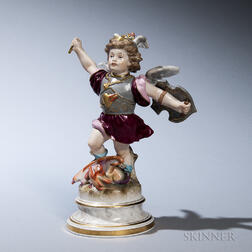 Meissen Porcelain Figure of St. George and the Dragon
