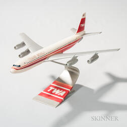 TWA Passenger Jet Travel Agent Aviation Model