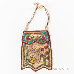 Beaded Iroquois Leather Bag