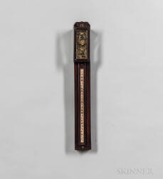 Japanese Weight-driven Shaku Dokei or Pillar Clock with Original Shipping Box