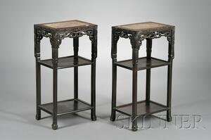 Pair of Rosewood Stands