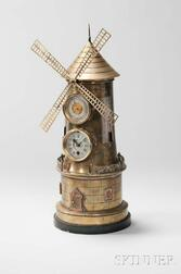 French Industrial Windmill Automaton Clock Compendium