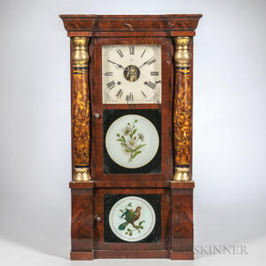 Seth Thomas Mahogany Sleigh-front Shelf Clock