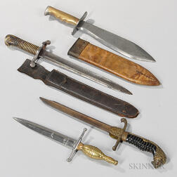 Four World War I-era Fighting Knives