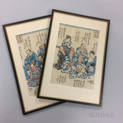 Diptych Woodblock Prints