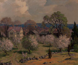 Jacob Greenleaf (American, 1887-1968)      Hartwell Farm  /Lincoln, Mass.