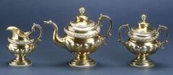Three Piece Federal Coin Silver Tea Set