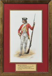 Original Don Troiani Watercolor Figure Study of a French Fusilier from the Dillon Regiment