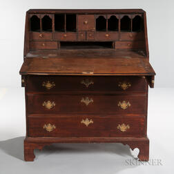 Carved Cherry Slant-lid Desk