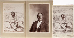 Cabinet Card Photo of Lone Wolf the Younger Chief of the Kiowa