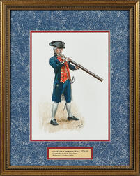 Original Don Troiani Watercolor Figure Study of a Captain in the Continental Navy