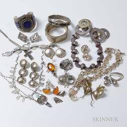 Group of Modern Mexican Silver Jewelry