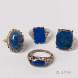 Four Lapis Rings