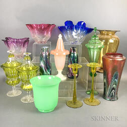 Fourteen Pieces of Colored Glass