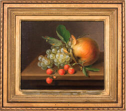 American School, 19th Century      Still Life with Fruit