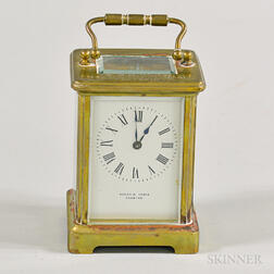 Botley & Lewis Brass and Glass Presentation Carriage Clock