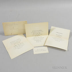 Two Woodrow Wilson Wedding Invitations