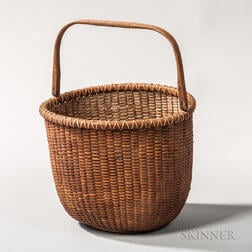 Round Nantucket Swing Handle Basket