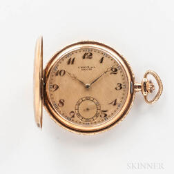 14kt Gold Union S.A. Soleure Hunter-case Watch