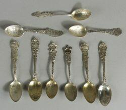 Group of Thirty-three Sterling Souvenir Spoons of the District of Columbia and Various States