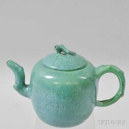 Robin's Egg-glazed Yixing Teapot