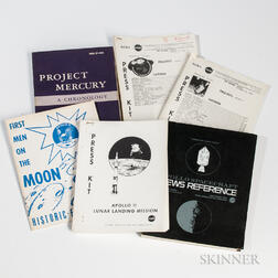 NASA Official Publications Related to the Apollo Programs, 1960s-1970s.