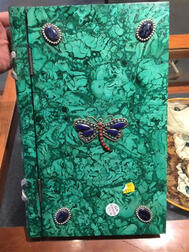 Jeweled Malachite Book Box