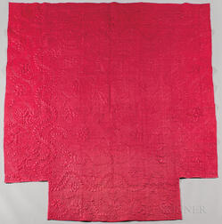 Raspberry Calamanco Wool Coverlet