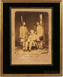 Lee, Robert E. (1807-1870) Photograph Signed by Matthew Brady, Gen. R.E. Lee and Staff.