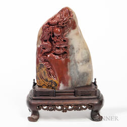 Soapstone Carving of a Mountain
