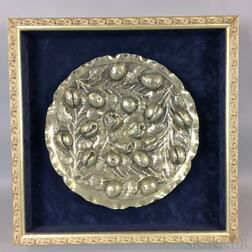 Framed Repousse Silver-plate Charger