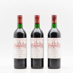 Chateau Cos dEstournel 1985, 3 bottles