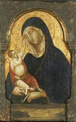 Sienese School, 15th Century Style  Madonna and Child