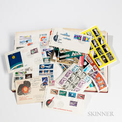Space Stamp Collection with Thirty-six First Day Covers.