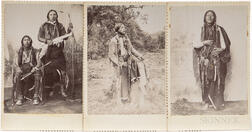 Three Cabinet Cards of Young Native American Men
