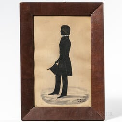 Paper Silhouette of a Young Man