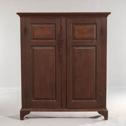 Pine Paneled Cupboard