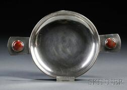 Jerry Cates Silver Dish with Agates