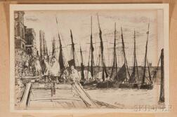 Two James Abbott McNeill Whistler Billingsgate Collotype Facsimiles.        Estimate $20-200