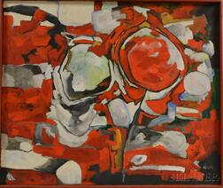American School, 20th Century      Red Abstraction