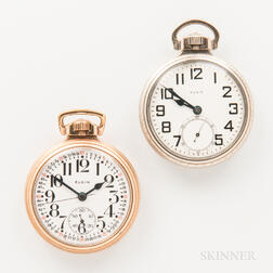 "Two 16 Size Elgin ""B.W. Raymond"" Watches"