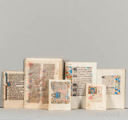 Manuscript Leaves, Prayer Books and Bibles, Thirty-seven Examples.